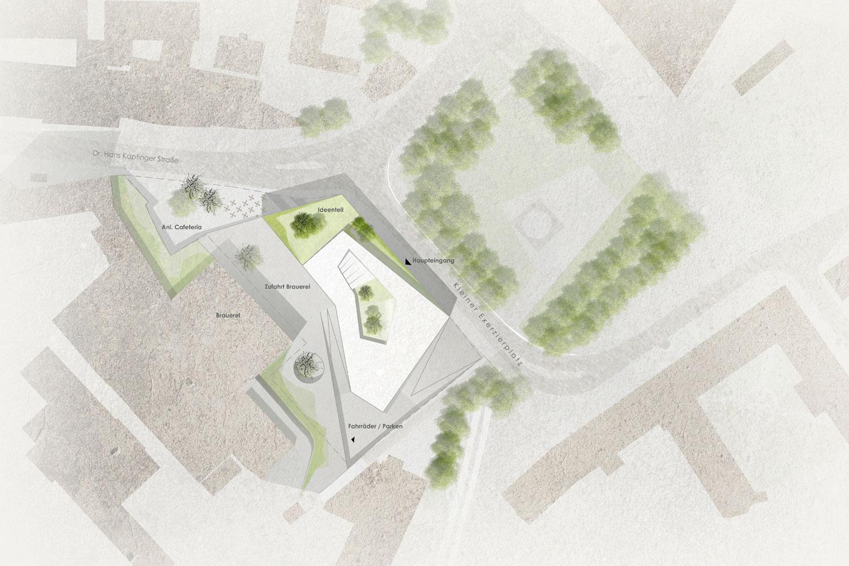 Wettbewerb Internationales Wissenschaftszentrum Passau, Lageplan