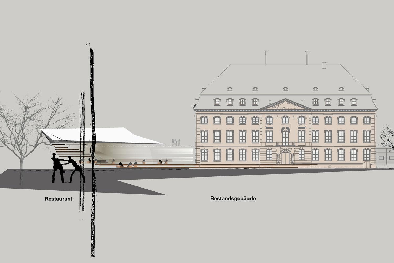 Wettbewerb Nachhaltige Sanierung Landtagsgebäude Rheinland-Pfalz, Ansicht