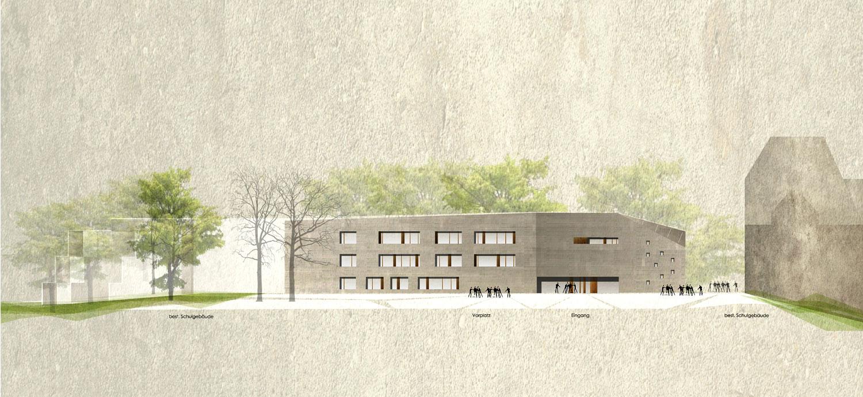 Wettbewerb Neubau Friedrich-Schelling-Schule Bietigheim-Bissingen, Ansicht Nord