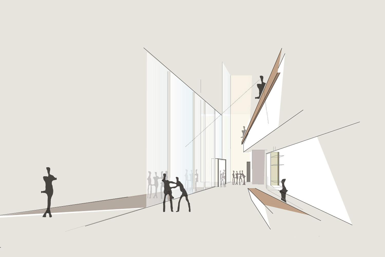 Wettbewerb Neubau Jüdisches Museum Franken in Fürth, Perspektive