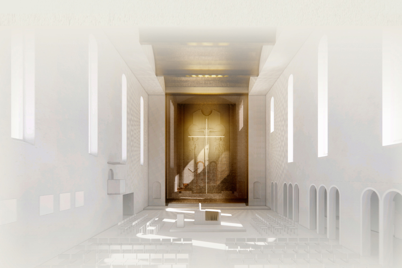 Wettbewerb Stadtkloster St. Franziskus Dammerstock Karlsruhe, Kirchraum