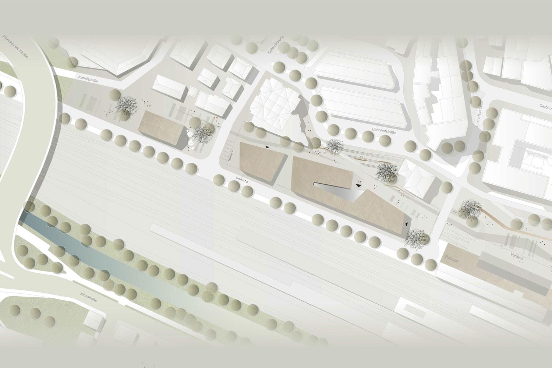 Wettbewerb Städtisches Verwaltungszentrum Göppingen, Lageplan