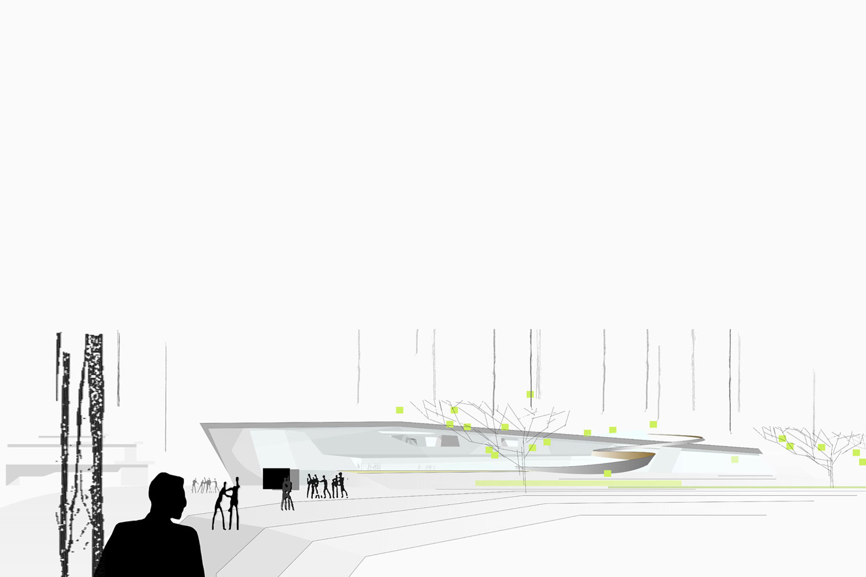 Wettbewerb Umbau und Neubau Hallenbad Walldorf, Ansicht