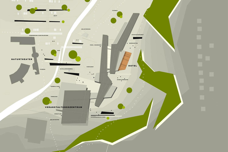 Wettbewerb Veranstaltungszentrum mit Tagungshotel Heidenheim, Ansicht