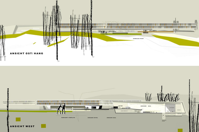 Wettbewerb Veranstaltungszentrum mit Tagungshotel Heidenheim, Ansichten