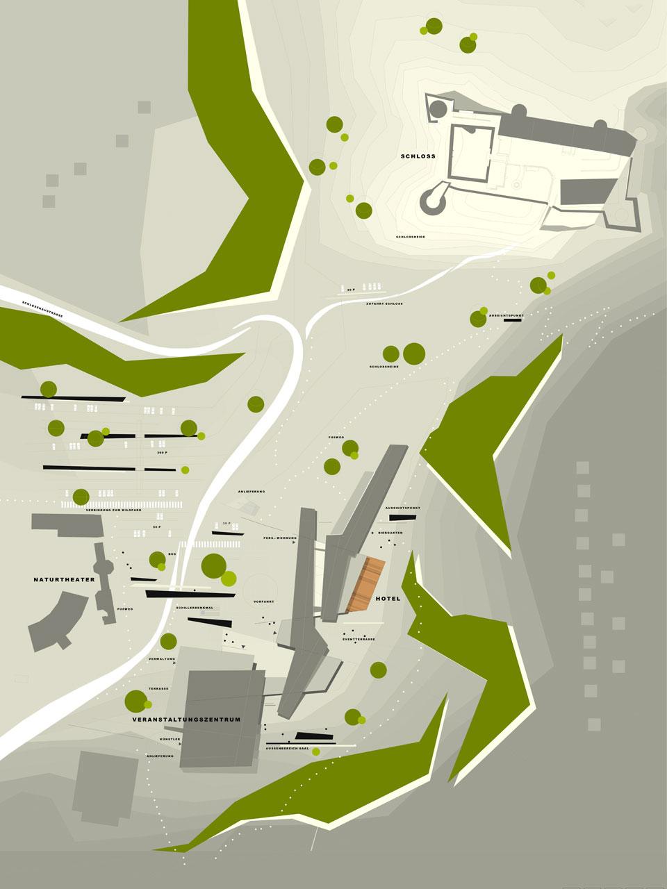 Wettbewerb Veranstaltungszentrum mit Tagungshotel Heidenheim, Lageplan