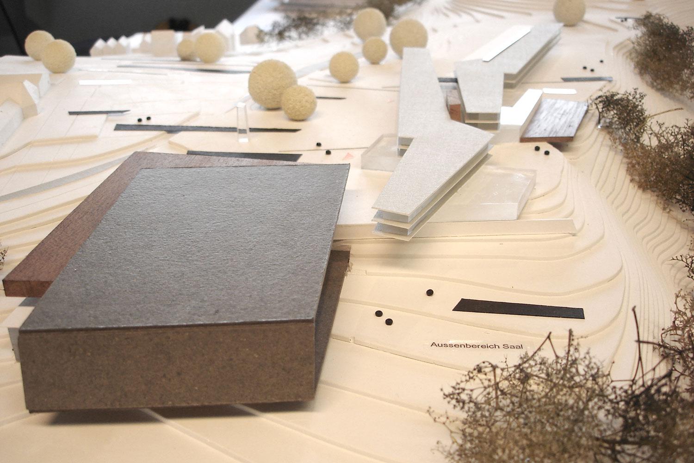 Wettbewerb Veranstaltungszentrum mit Tagungshotel Heidenheim, Modell