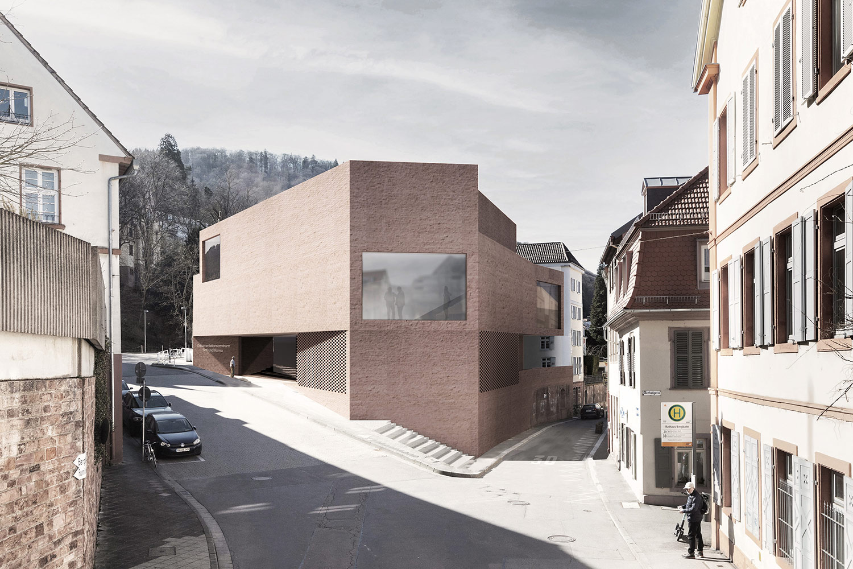 Wettbewerb Neubau und Sanierung Dokumentations- und Kulturzentrum Heidelberg, Außenraumperspektive
